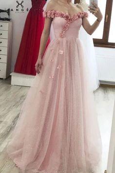 Stunning Prom Dresses, Evening Dresses, Formal Dresses, Flower Dresses, Dress Making, Tulle, Pink, Fashion, Evening Gowns