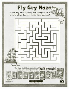 Fly Guy Maze. Used with Hooray for Fly Guy! by Tedd Arnold