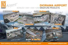 Complete Airport sets (Ground Foil + Building Kits) Start building your lifelike and detailed Diorama Airport now! - WEBSHOP at: www.nopoint-airport.com - Enjoy!