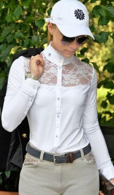 Riding Shirt Wisteria white