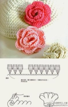 Crochet rose diagram diy wiring diagrams how to crochet a beautiful lace ribbon rose pinterest free rh pinterest com crochet stitch diagrams crochet leaves diagram ccuart Image collections