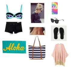 """""""Beach day with Bea"""" by lauren-25ellis on Polyvore featuring Sweaty Betty, rag & bone/JEAN, Abercrombie & Fitch, Accessorize, Melissa McCarthy Seven7 and plus size clothing"""