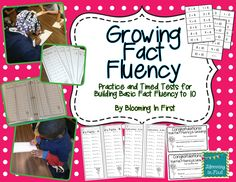 Growing Fact Fluency:  Practice and Timed Test for Building Fact Fluency to 10.  Includes 70 timed addition and subtraction tests, flash cards for practice, individual and student tracking sheets, and certificates for students when they pass each level.  A great way to practice math fact fluency!  $