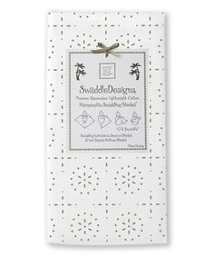 Look at this SwaddleDesigns Taupe Gray Sparklers Marquisette Swaddling Blanket on #zulily today!