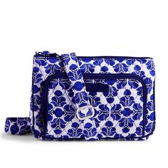 Vera BradleyLittle Hipster Cobalt tile With all the components of a wallet built right into the bag, this compact crossbody keeps essentials orderly and organized. Inside the front zip-around compartment, three cards slips and an ID window secure cards and cash, while an exterior pocket is the ideal spot to stow a phone or keys. An adjustable crossbody strap adds perfect on-the-go versatility. Vera Bradley Bags Crossbody Bags