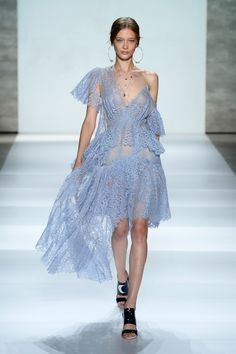 Everything felt loose, flowy, and unstructured, while pastels reigned supreme. Zimmermann Spring/Summer 2015 via @stylelist