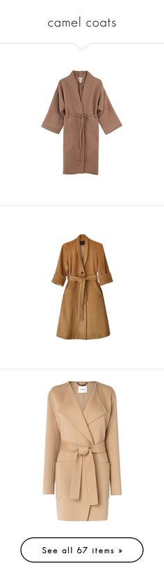 """camel coats"" by bonadea007 ❤ liked on Polyvore featuring outerwear, coats, leather-sleeve coats, mara hoffman, mara hoffman coat, fur-lined coats, camel coat, brown coat, long oversized coat and swing coat"