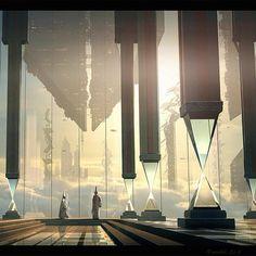 raphael-lacoste: Upside down city #illustration... -
