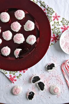 Peppermint OREO Cookie Balls from The Corner Kitchen