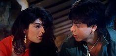 "Young and Restless ... and in Love (""O Rabba"" and ""Neend Kise Chain Kahan"", Zamaana Deewana) #musicmonday - Bollywood, Shah Rukh Khan, Raveena Tandon"