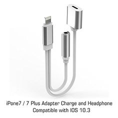 Cool iPhone 7 / 7 Plus Adapter, iPhone 7 Accessories 2 in 1 Lightning Adapter Cable Charge and Headphone Splitter  For You Check more at http://fashion-look.top/product/iphone-7-7-plus-adapter-iphone-7-accessories-2-in-1-lightning-adapter-cable-charge-and-headphone-splitter-for-you/