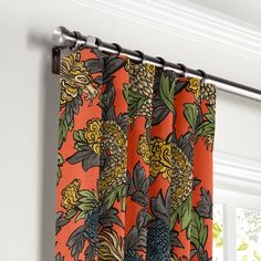 Loom Decor Convertible Drapery Ming Dragon - Persimmon