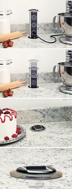 Kitchen renovation - If you're planning a kitchen remodel, you'll love these awesome kitchen organization ideas. Don't start your kitchen renovations before you check these out! Kitchen Ikea, Kitchen Gadgets, New Kitchen, Kitchen Dining, Kitchen Decor, Awesome Kitchen, Kitchen Cabinets, Kitchen Countertops, Kitchen Outlets