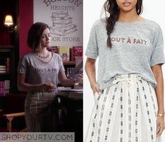 Pretty Little Liars: Season 6 Episode 11 Aria's Grey Linen Graphic Tee