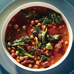 Pressure Cooker Recipes | 1-Hour Spanish Chickpea Soup | CookingLight.com