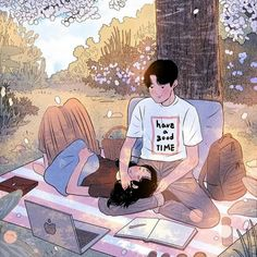 Myeong-Minho is a South Korea-based illustrator who draws beautiful, romantic moments of couples lives. Cute Couple Drawings, Cute Couple Art, Anime Love Couple, Couple Cartoon, Manga Couple, Cartoon Kunst, Cartoon Art, Art And Illustration, Illustrations