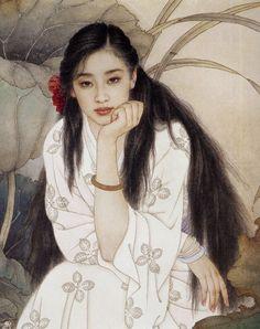 Твой чуден облачный наряд, цветку подобен образ твой... Художники Wang Meifang, Zhao Guojing. Обсуждение на LiveInternet - Российский Сервис...