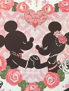 Image via We Heart It https://weheartit.com/entry/164778823/via/22479432 #disney #micky #minnie #pink #rose