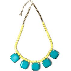Pull & Bear Stone And Turquoise Necklace ($15) ❤ liked on Polyvore