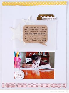 #papercrafting #scrapbook #layouts: