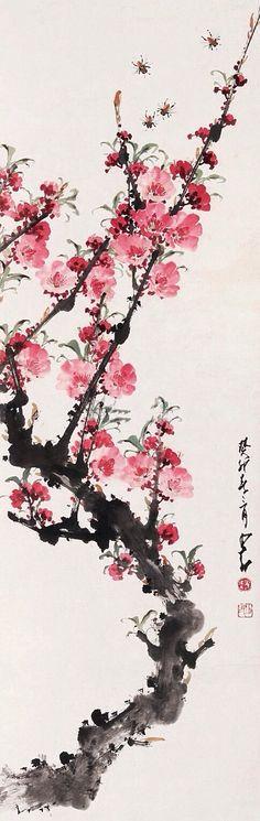 """"""" 万树江边杏,新开一夜风。满园深浅色,..."""