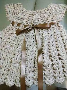 Resultado de imagem para vestido de bebe de croche
