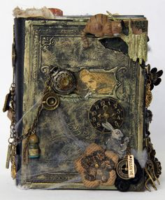 First pin of Steampunk - many more to follow. Alice altered book - graphic 45