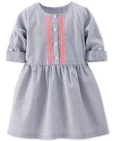 Carter's Little Girls' Striped & Embroidered Dress - Kids Dresses & Dresswear - Macy's