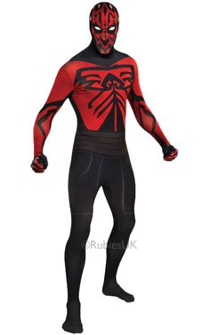 This Mens Darth Maul Second Skin Costume Includes A Full Body Stretch Jumpsuit Size: Xl. Men's Star Wars Darth Maul Second Skin Halloween Costume XL Multicolored Darth Maul Costume, Costume Star Wars, Star Wars Dress, Jedi Costume, Costume Shop, Star Wars Halloween, Halloween Cosplay, Halloween Costumes, Halloween Stuff
