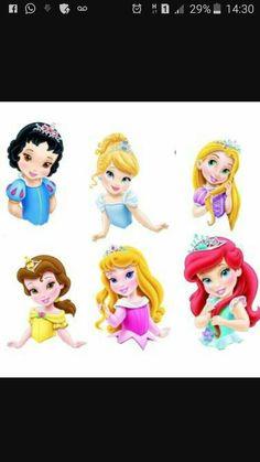 Disney Princess Toddler, Princess Cartoon, Cute Princess, Disney Girls, Princess Party, Princess Cupcake Toppers, Princess Cupcakes, Princess Theme Birthday, Disney Artwork