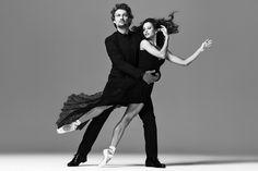Campaign image for the Royal Opera House Summer Season 2017. Jonas Kaufmann and Francesca Hayward. Image by AKA © ROH 2016. Photograph by Mariano Vivanco |