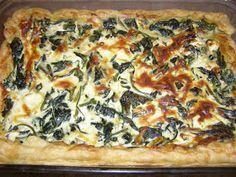 Ταρτα με Σπανακι. Κρεμωδη σε Σφολιατα. e -Συνταγόκοσμος Vegetable Pizza, Vegetables, Food, Recipes, Chef Recipes, Cooking, Essen, Vegetable Recipes, Meals