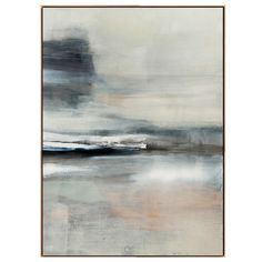Serenity's Edge B Framed Stretched Canvas Art