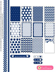 Free Printable Polka Dotted Stickers in 10 colors
