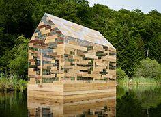 Maison Sur Leau, B Architecture, Bubble House, Jardin Decor, Floating House, Japan Design, Boat Design, Street Furniture, Beautiful Space