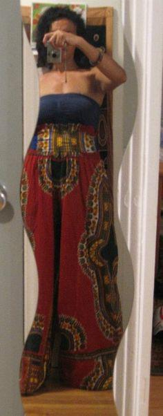 Harvest Dashiki High Waist Pants by HarvestGrlExperience on Etsy, $90.00