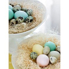 Easy Easter Centerpieces and Table Settings ❤ liked on Polyvore featuring backgrounds, pictures, easter, blue and decorations