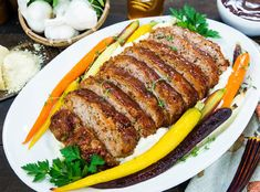 Mouth-watering meatloaf by Mary Beth Albright! Tune in to Home & Family weekdays at on Hallmark Channel! Spring Recipes, Holiday Recipes, One Pan Meals, Easy Meals, Crockpot Recipes, Cooking Recipes, Traeger Recipes, Family Meals, Family Recipes