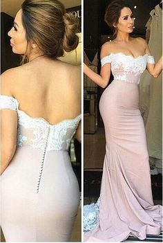 2017 prom dress, long prom dress, mermaid prom dress, pink prom dress with white lace, party dress