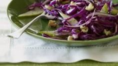Red Cabbage Salad with Pears and Walnuts