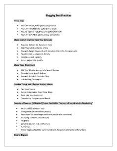 Blogging best practices by Navjot Singh via slideshare