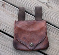 Mountain Man Belt Bag with Buffalo Horn Button by misstudy on Etsy