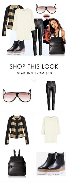 Street leather style by fantastic-sunglasses on Polyvore featuring, Guy Laroche sunglasses, H&M, ILI, Nevermind and vintage