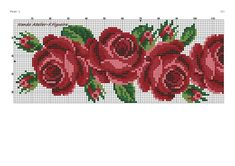 Cross Stitch Rose, Cross Stitch Flowers, Rose Bouquet, Needlepoint, Embroidery, Beads, Instagram, Monogram, Cross Stitch Embroidery