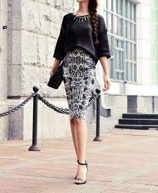 Ya es el tercer post de falda lápiz y cada vez me sorprendo de outfits tan increíbles que encuentro.   El  Primer Post  fue introductorio ...