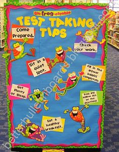 A fun way to remind students about how to be good test takers! Testing tips!