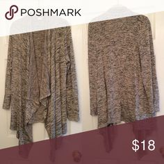 Long Draped Cardigan Open front with draped panels in the front. Size medium but fits like a large super cute with leggings or skinnies and boots, perfect for fall! 🍂🍁 Sweaters Cardigans