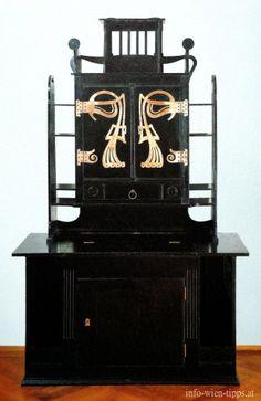 Josef Hoffmann, Workshop cupboard, designed for Koloman Moser, 1898