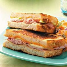 Ham & Apple Grilled Cheese Sandwiches Recipe using Sourdough Bread from Taste of Home Cooking