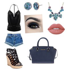 """""""Beach girl"""" by jill-hubbard on Polyvore featuring Torrid, Betsey Johnson, Levi's, Michael Kors, Charles by Charles David and Lime Crime"""